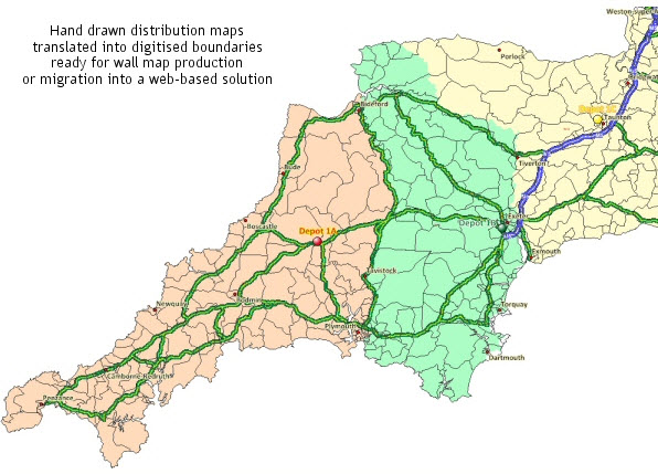 Recreated territories using postal allocation