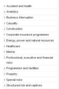 Miller Insurance specialisms