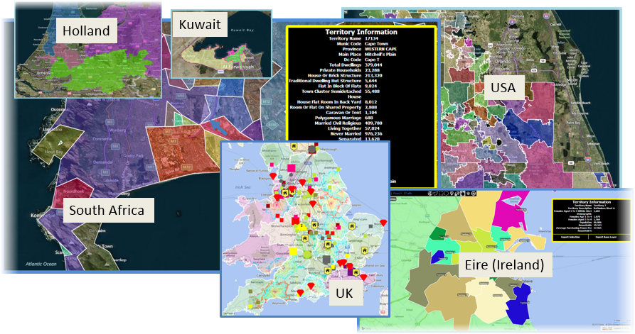 franchise territory mapping worldwide